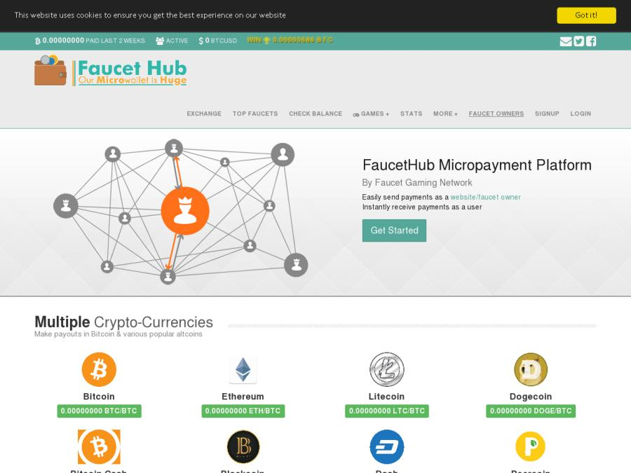 FaucetHub (faucethub io) - заработок криптовалюты: браузерный