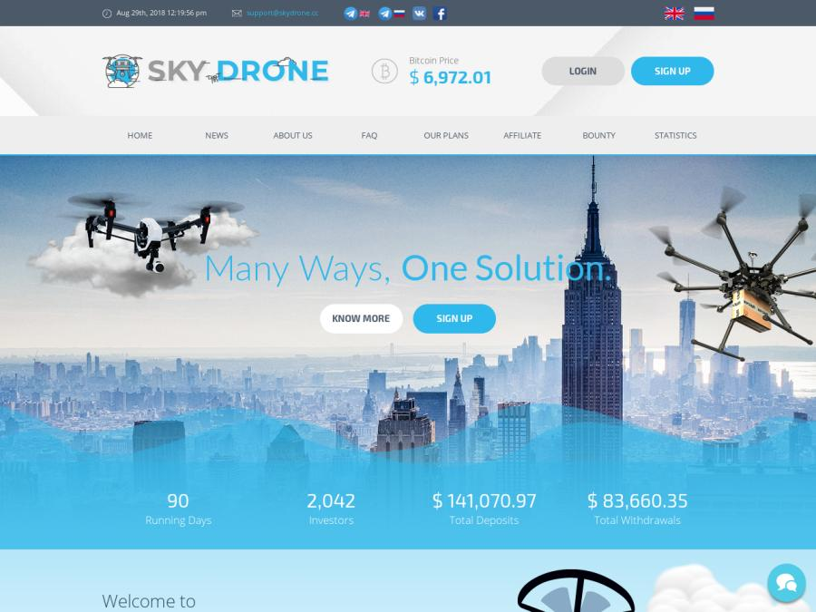 Skydrone Technologies LLC - псевдо партизанский хайп с доходом от 11%, 10$