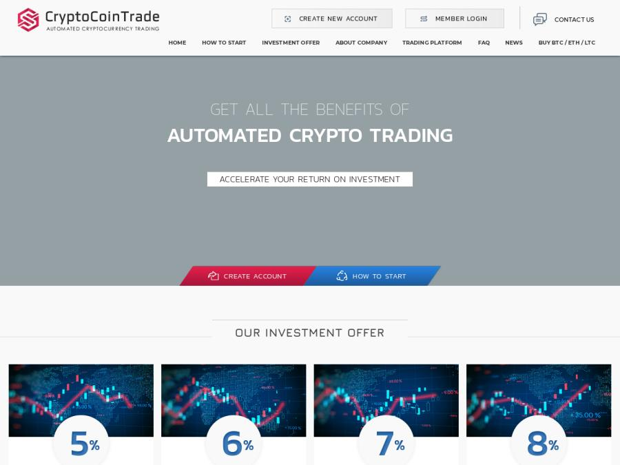 Automated Cryptocurrency Trading Platform - 4 тарифа на 100дн., 5-8% в день