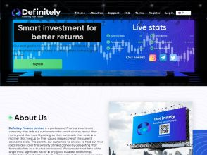 DefinitelyFinance - ребрендинг партизана: 1.5% на 15 дней, от $10, Страховка