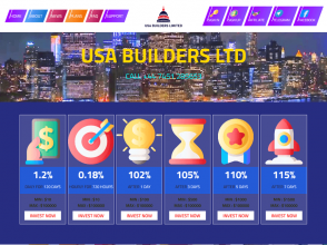 Usa Builders Ltd - низкодоходный проект с тремя типами начислений, от $ 10