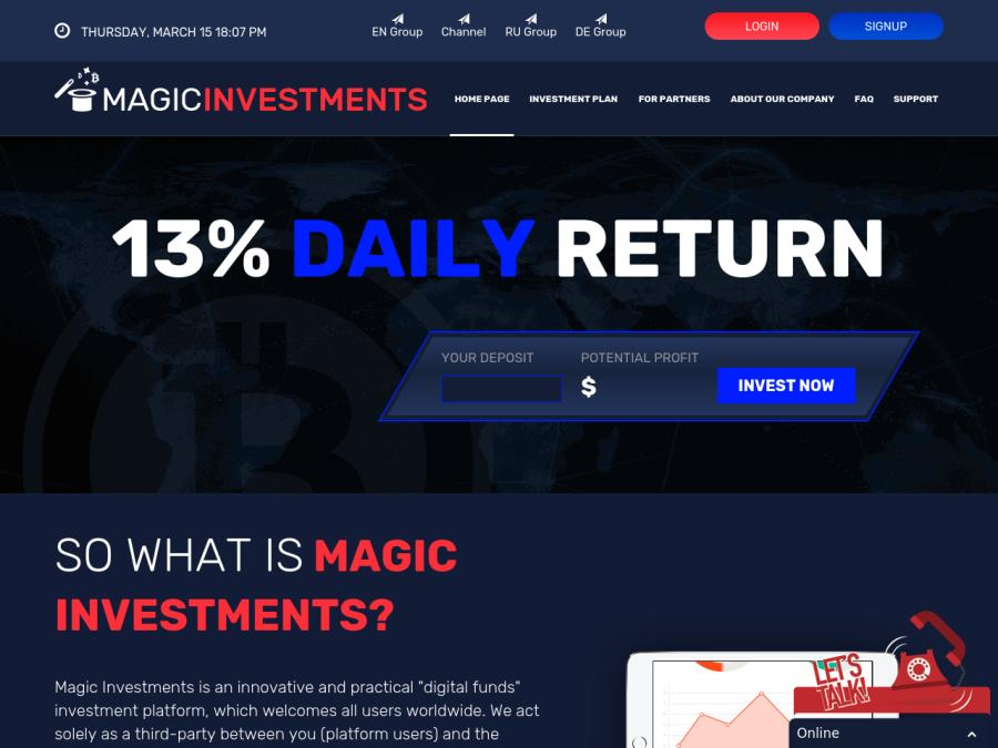 The best hyip investment online now application